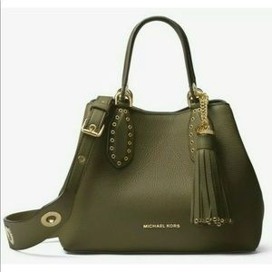 Michael kors Brooklyn small satchel grab bag green